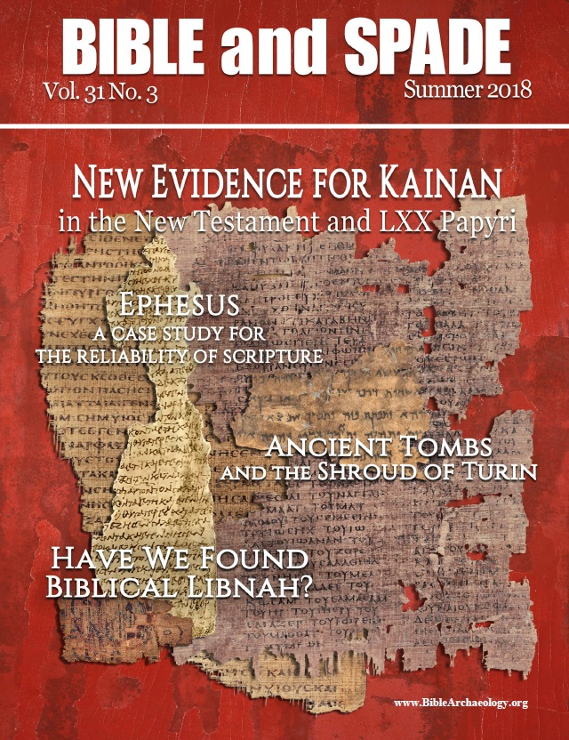 <i>Bible and Spade</i> Cover Kainan article 2018