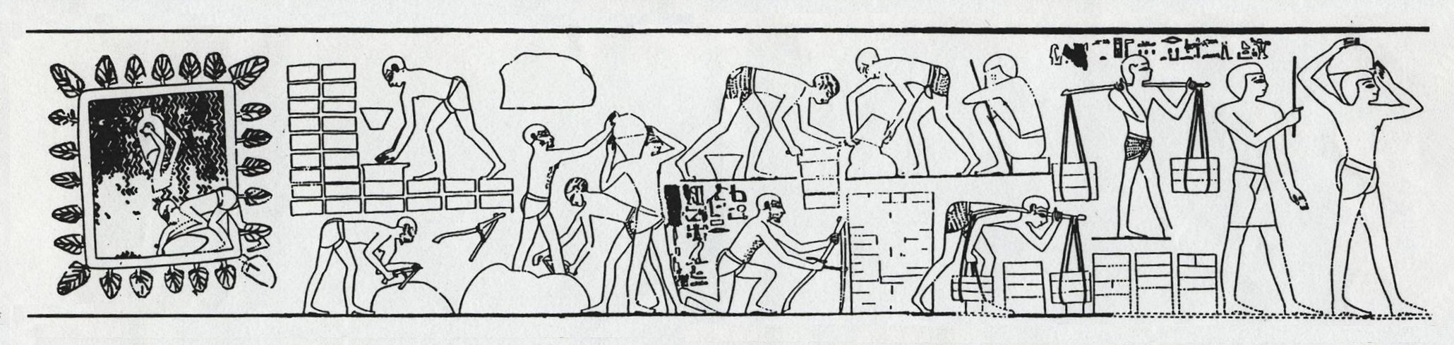 Mudbrick painting from Rekhmire tomb